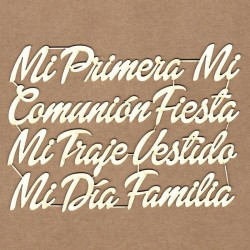 Set of chipboard - Communion messages (in Spanish)