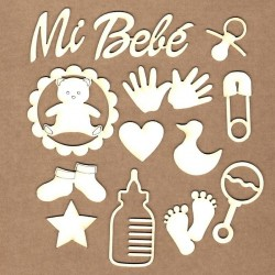 Set of chipboard – My baby
