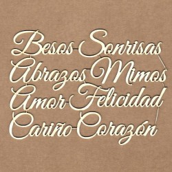 Set of chipboard – Love messages (in Spanish)