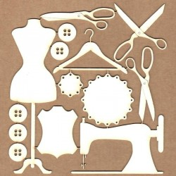 Set of chipboard – Sewing