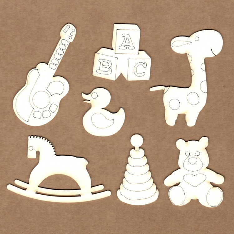 Set of chipboard – Baby toys