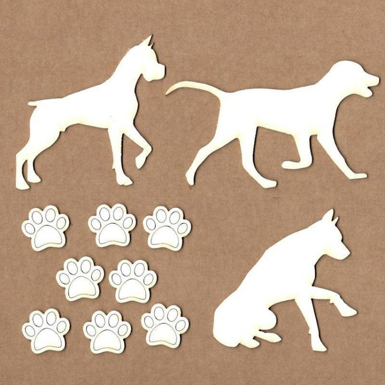 Set of chipboard – Dogs