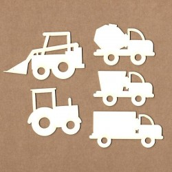Set of chipboard – Trucks and tractors