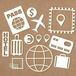 Set of chipboard – Travel