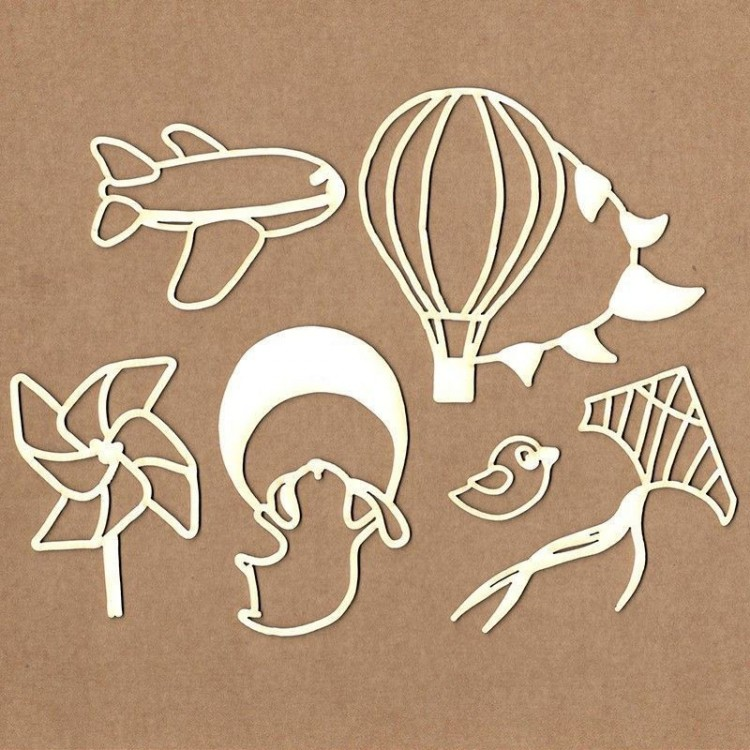 Set of chipboard – Boy from the sky