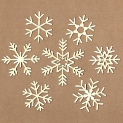 Set of chipboard – Snowflakes