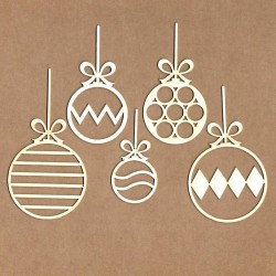 Set of chipboard – Christmas balls
