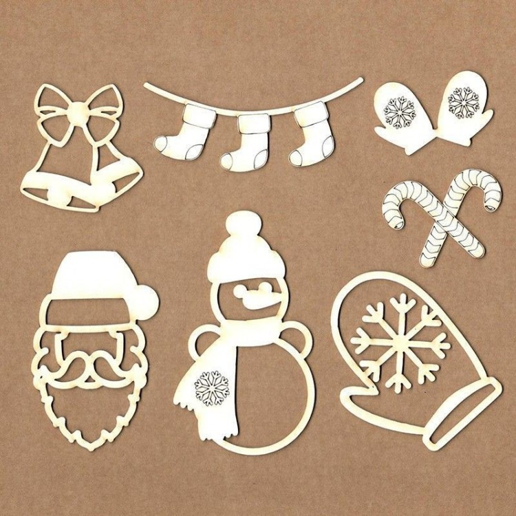 Set of chipboard – Christmas