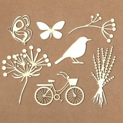 Set of chipboard - Magic Day
